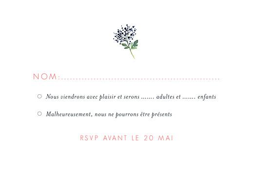 Carton réponse mariage Fleurs aquarelle crème - Page 2