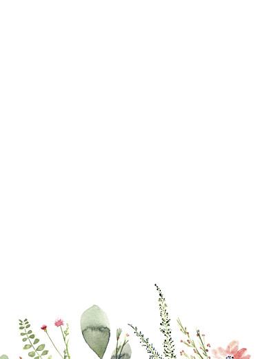 Livret de messe mariage Fleurs aquarelle crème - Page 3