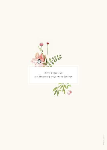 Livret de messe mariage Fleurs aquarelle crème - Page 4