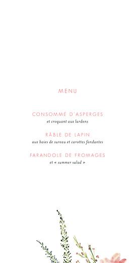 Menu de mariage Fleurs aquarelle crème - Page 3