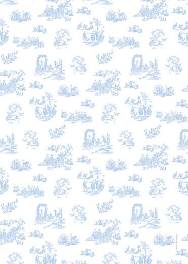 Livret de messe Toile de jouy bleu clair - Page 4
