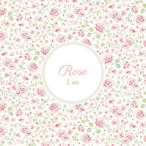 Carte d'anniversaire mixte félicité rose
