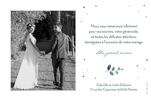 Carte de remerciement mariage Nuit d'été (dorure) bleu - Page 2