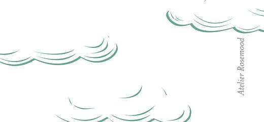 Etiquette de mariage La tête dans les nuages vert