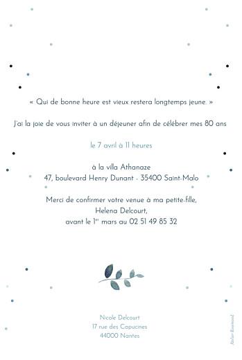 Carte d'invitation anniversaire adulte Nuit d'été (dorure) bleu - Page 2