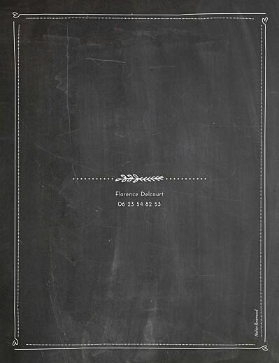 Carte d'invitation anniversaire adulte Ardoise noir - Page 2