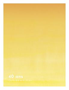 Carte d'invitation anniversaire adulte jaune aquarelle portrait jaune