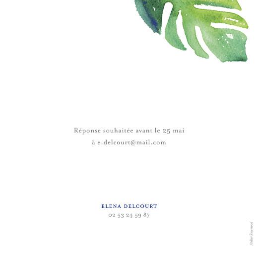 Carte d'invitation anniversaire adulte Acapulco blanc & vert - Page 2