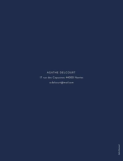 Carte d'invitation anniversaire adulte Étincelles (dorure) bleu marine - Page 2