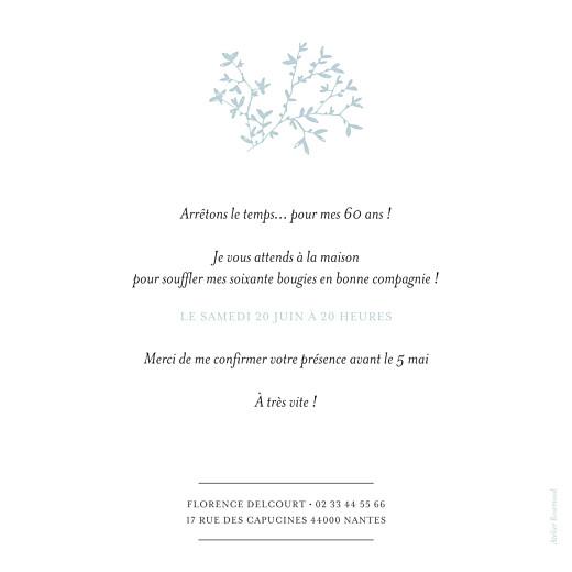 Carte d'invitation anniversaire adulte Reflets dans l'eau vert - Page 2