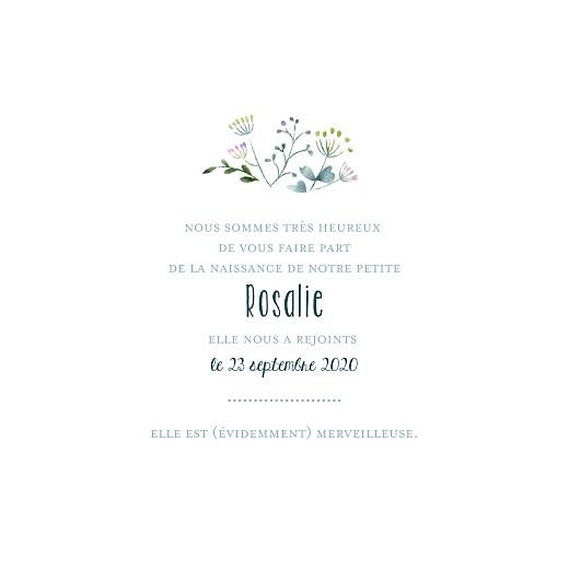 Faire-part de naissance Bouquet sauvage bleu - Page 3