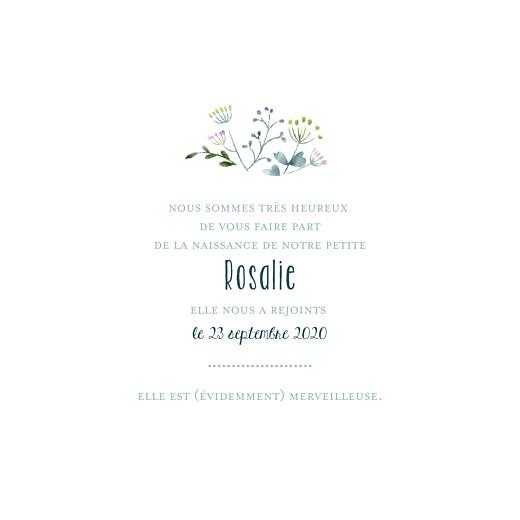 Faire-part de naissance Bouquet sauvage violet - Page 3