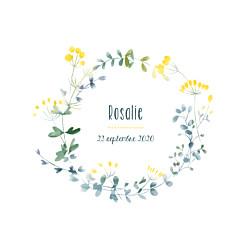 Faire-part de naissance Bouquet sauvage jaune