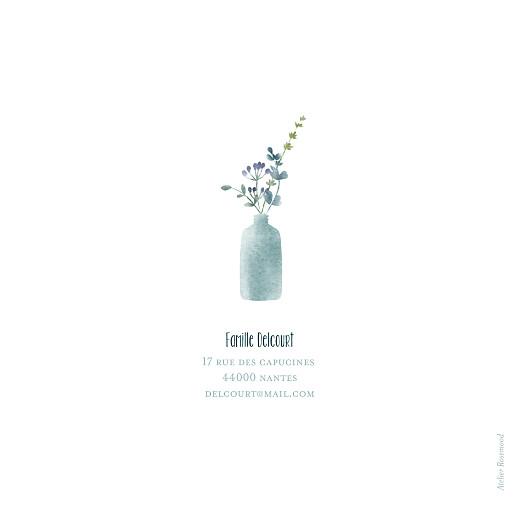 Faire-part de naissance Bouquet sauvage bleu - Page 4