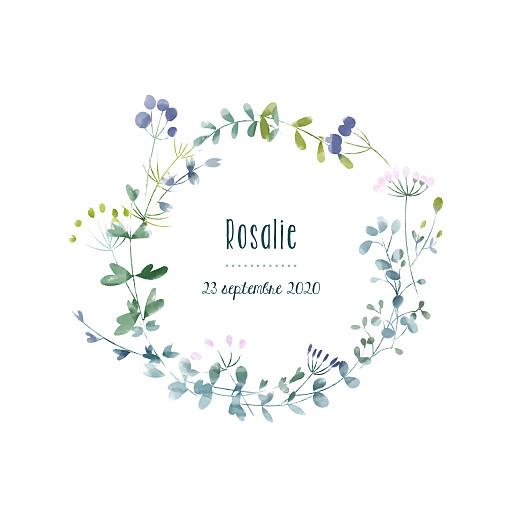 Faire-part de naissance Bouquet sauvage bleu