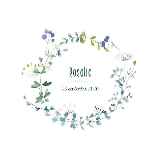 Faire-part de naissance Bouquet sauvage violet