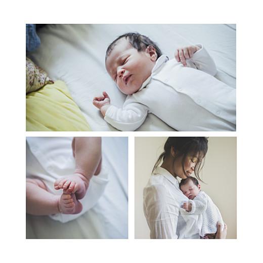 Faire-part de naissance Promesse (1 enfant) blanc - Page 2