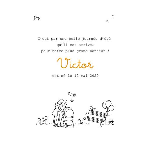 Faire-part de naissance Promesse (1 enfant) blanc - Page 3