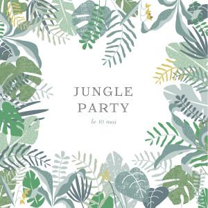 Carte d'invitation anniversaire adulte Jardin tropical vert