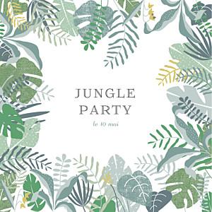 Carte d'invitation anniversaire adulte sans photo jardin tropical vert