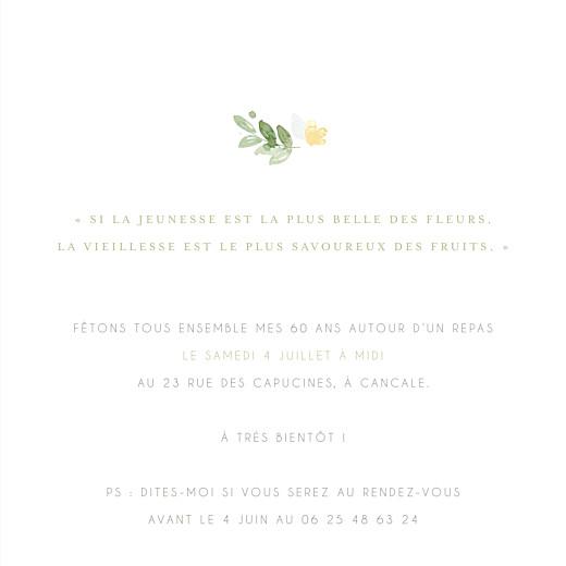 Carte d'invitation anniversaire adulte Jardin anglais vert - Page 3