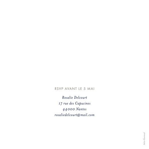 Carte d'invitation anniversaire adulte Ombres florales bleu - Page 2