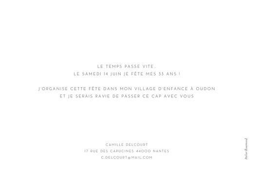 Carte d'invitation anniversaire adulte Élégant photo paysage blanc - Page 2