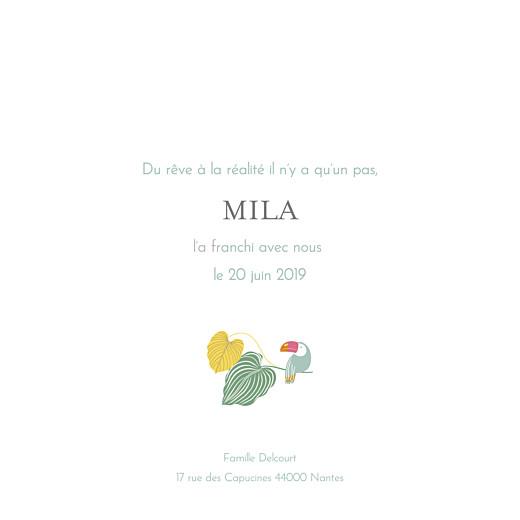 Faire-part de naissance Jardin exotique beige - Page 3