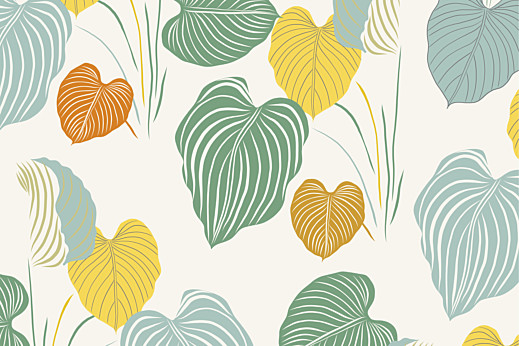 Carte de correspondance Jardin exotique beige