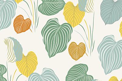 Carte de correspondance Jardin exotique beige finition