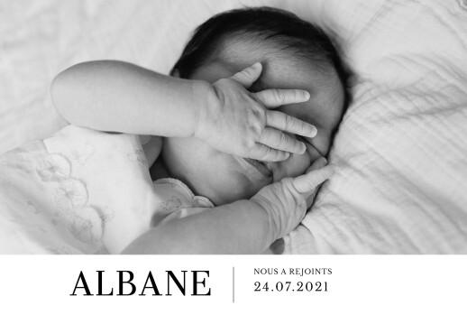 Faire-part de naissance Moderne photo paysage blanc