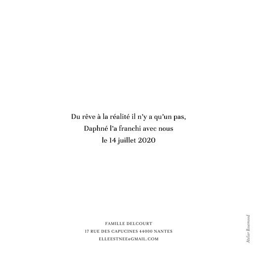Faire-part de naissance Moderne chic blanc - Page 2