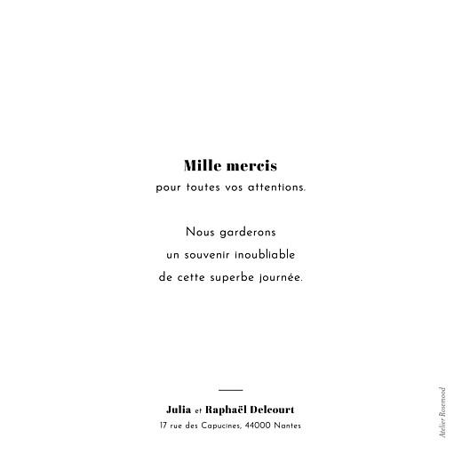 Carte de remerciement mariage Retrospective 4 photos blanc - Page 2