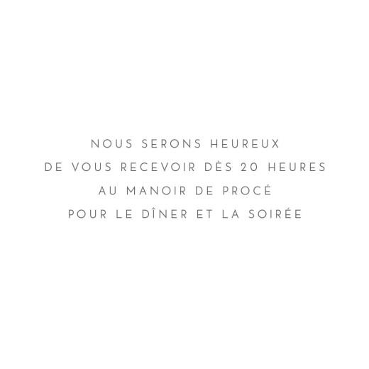 Carton d'invitation mariage Élégant cœur (dorure) blanc - Page 2