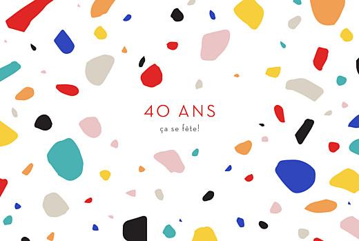 Carte d'invitation anniversaire adulte Terrazzo foncé