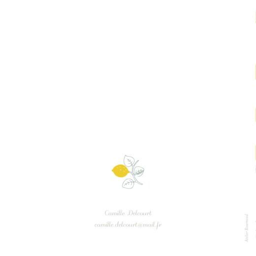 Carte d'invitation anniversaire adulte Citrons jaune - Page 4