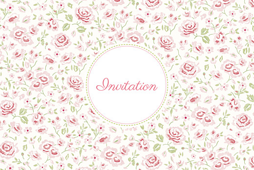 Carte d'invitation anniversaire adulte Félicité rose