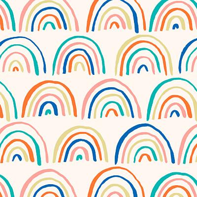 Carte de remerciement Petit arc-en-ciel bleu finition