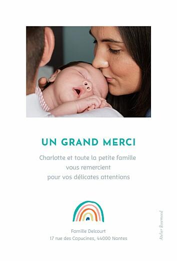 Carte de remerciement Petit arc-en-ciel photo beige - Page 2