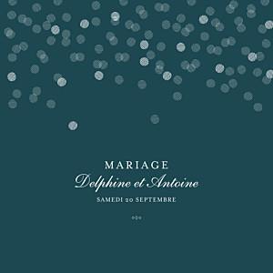 Faire-part de mariage vert polka canard