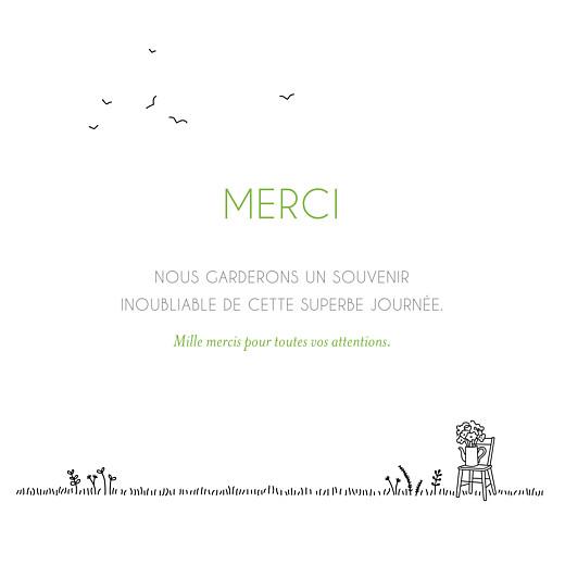 Carte de remerciement mariage Promesse champêtre (4 pages) blanc - Page 3