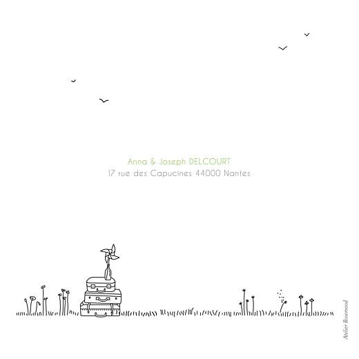 Carte de remerciement mariage Promesse champêtre (4 pages) blanc - Page 4