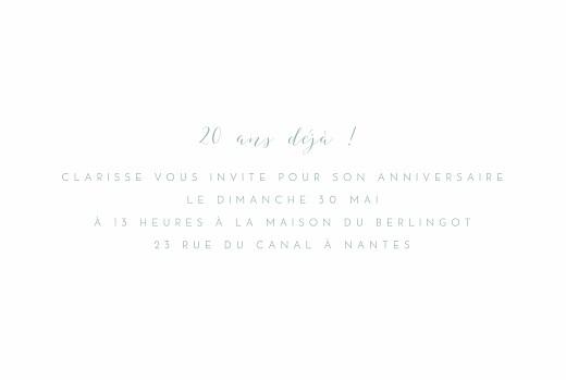 Carte d'invitation anniversaire adulte Mon invitation vert - Page 3