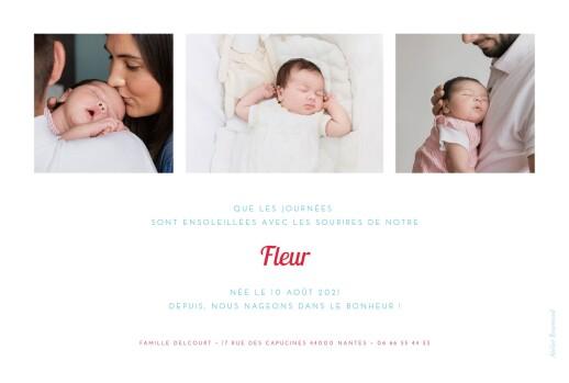 Faire-part de naissance Le petit baigneur (1 enfant) clair - Page 2