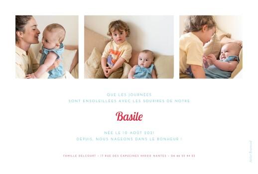 Faire-part de naissance Le petit baigneur (2 enfants) clair - Page 2