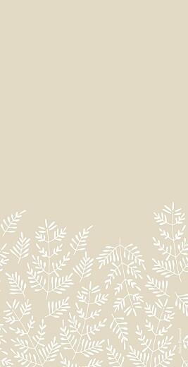 Menu de mariage Mille fougères (4 pages) beige - Page 4