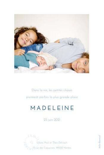 Faire-part de naissance Family is forever (portrait) beige - Page 2