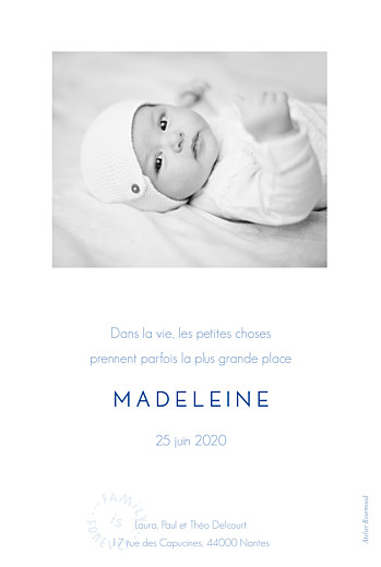 Faire-part de naissance Family is forever (portrait) beige - Page 2