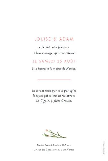 Faire-part de mariage Fleurs aquarelle herbier bleu - Page 2