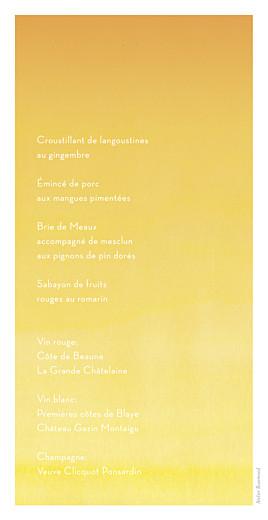 Menu de mariage Aquarelle jaune - Page 2